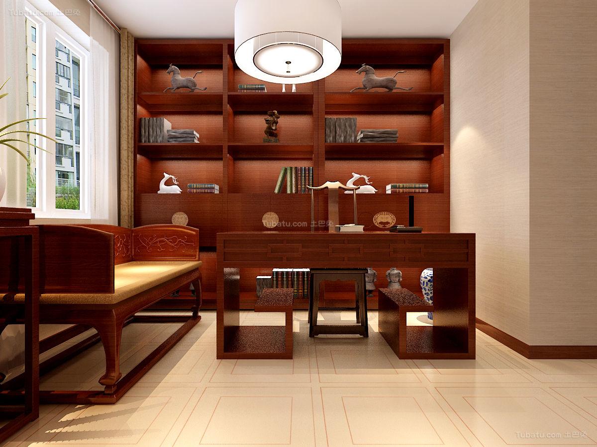 新中式书房装饰图