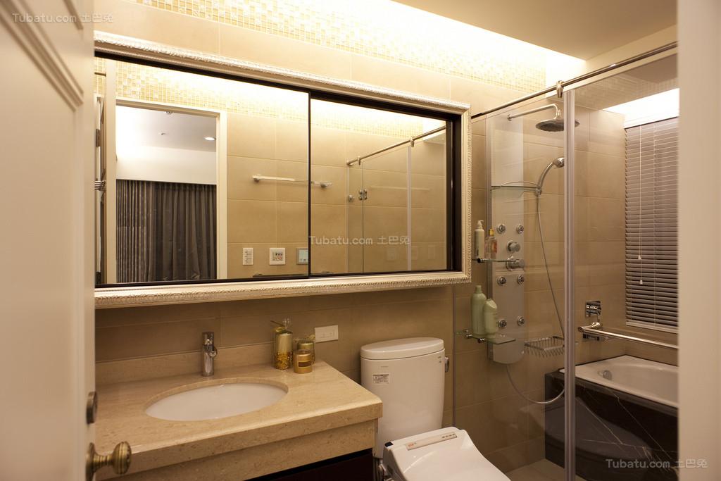 混搭风现代质感卫生间欣赏图