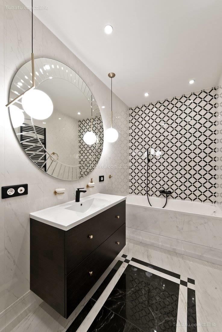 现代风装潢卫浴效果图