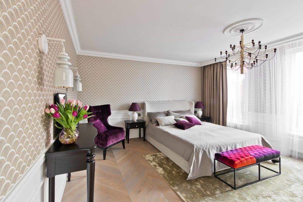 现代风装潢卧室效果图