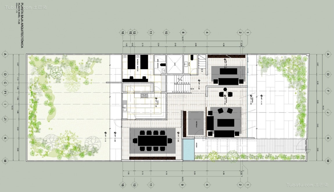 60平米两室一厅平面图