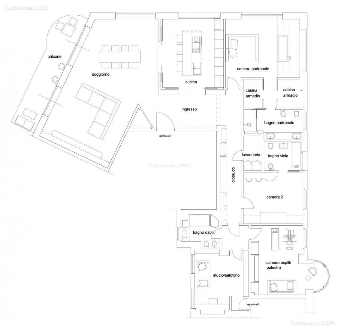 农村小户型别墅平面图