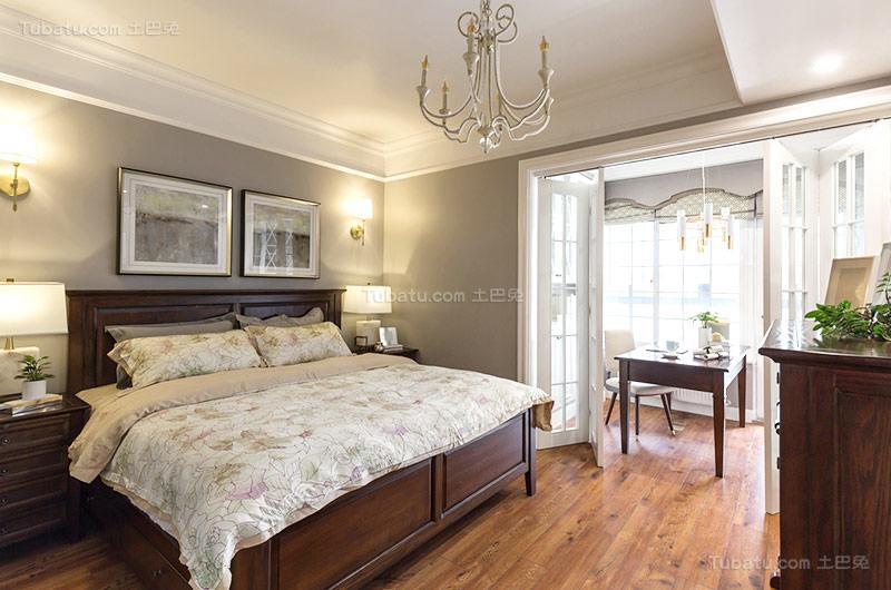 复古东南亚风卧室设计效果图