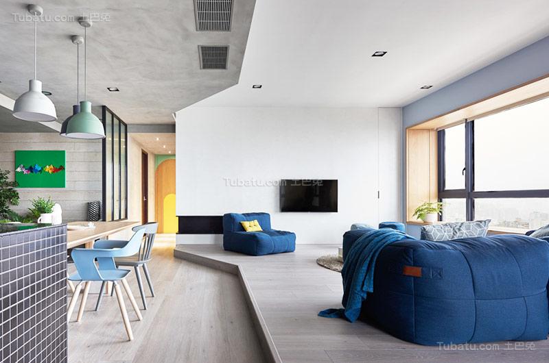 北欧舒适公寓电视背景墙装修效果图