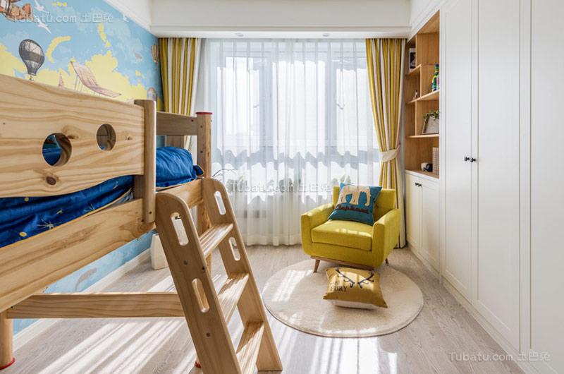 休闲北欧风格儿童房设计效果图