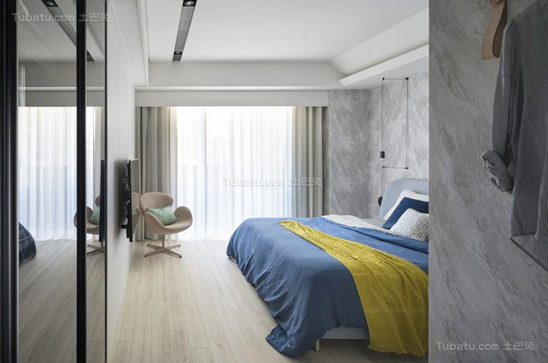 北欧时尚风格卧室设计效果图