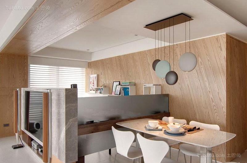 北欧时尚风格餐厅吊顶设计效果图