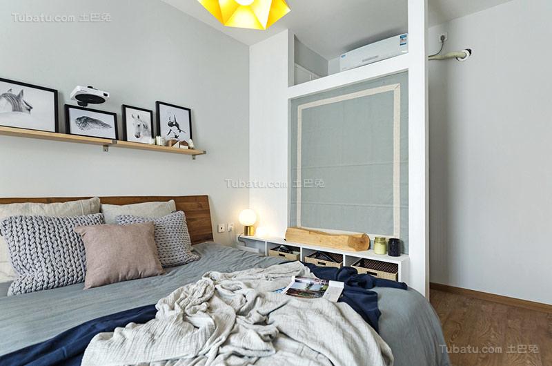 北欧温馨卧室隔断装修效果图