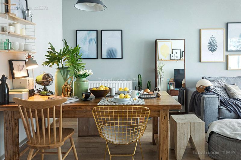 北欧温馨单身公寓餐厅装修效果图