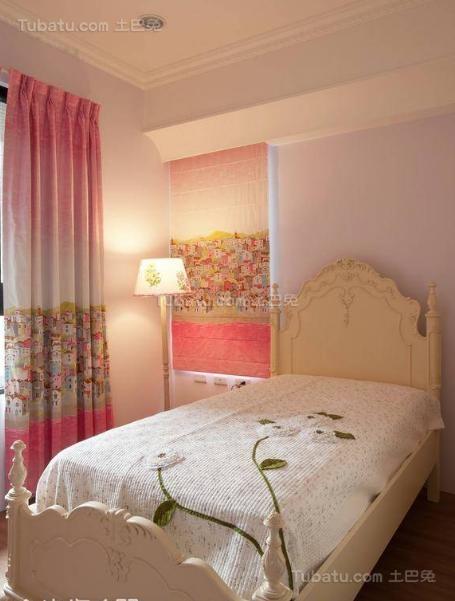 美式粉色甜美小卧室效果图