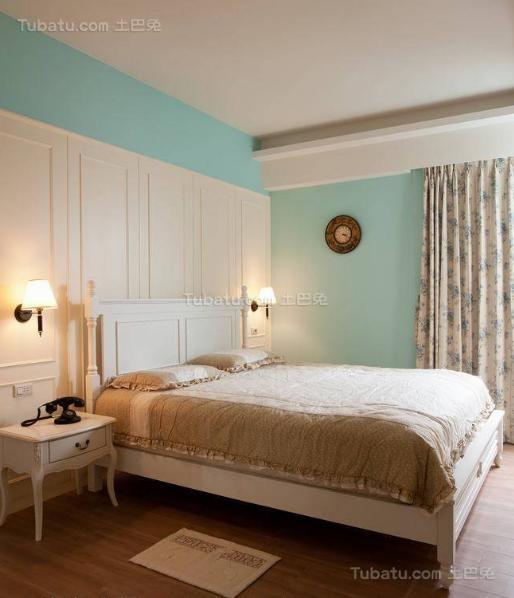 美式粉色甜美卧室效果图