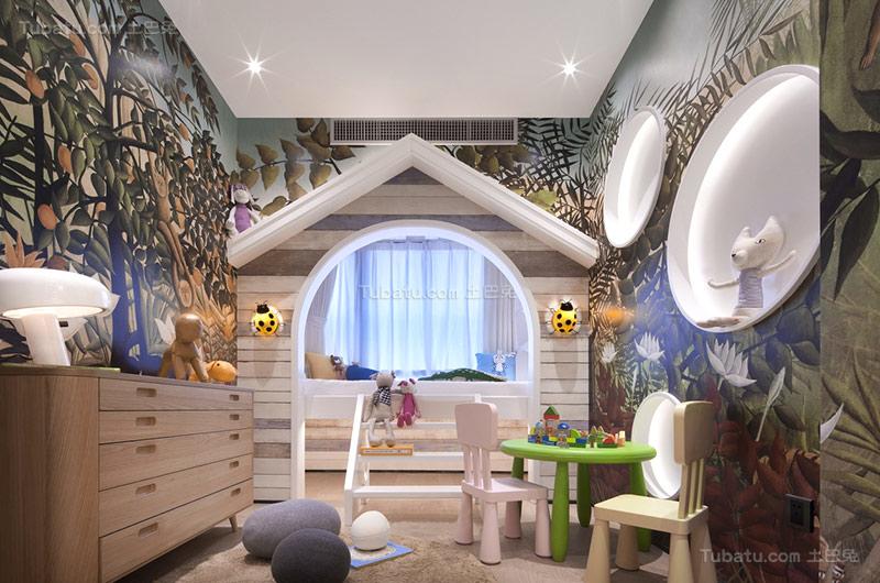 新古典浪漫儿童房设计图片
