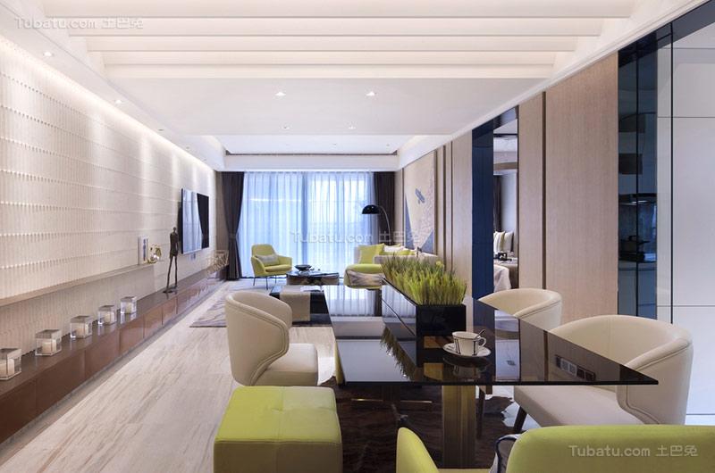新古典浪漫三居室设计图片