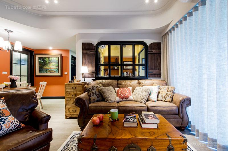 乡村美式三居室设计图片