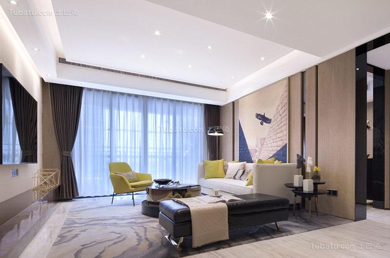 新古典浪漫客厅设计图片