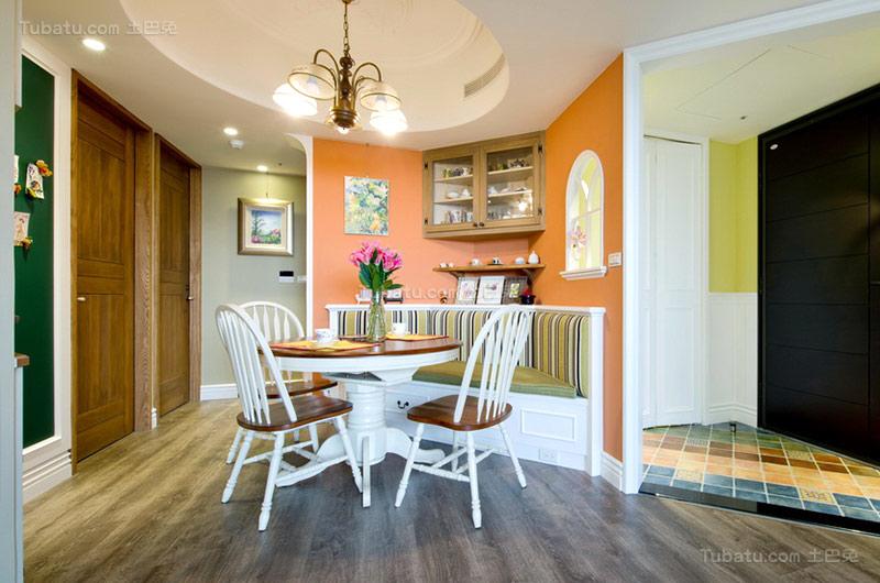 美式温馨二居室餐厅设计图片
