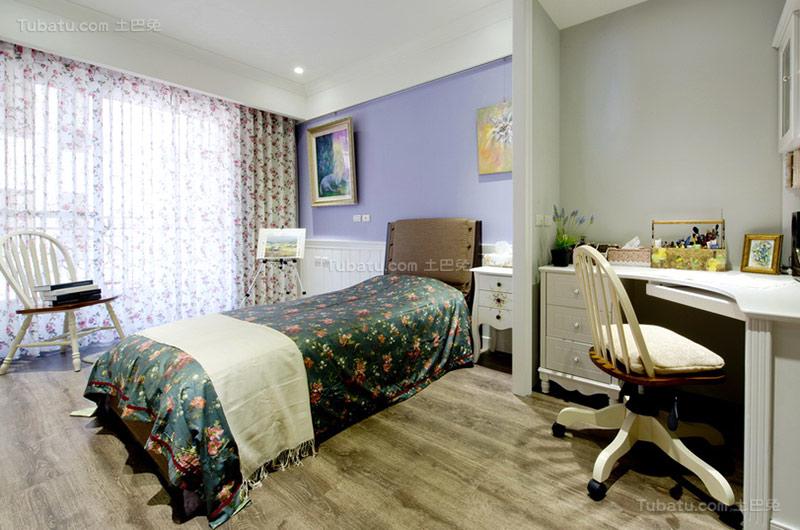 美式温馨次卧设计图片