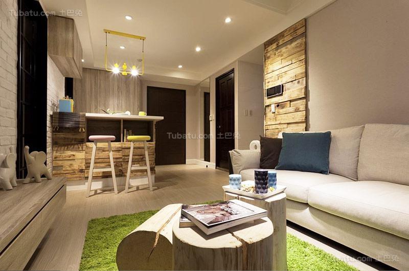 清新北欧单身公寓设计图片