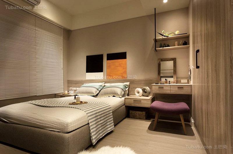 清新北欧卧室设计图片