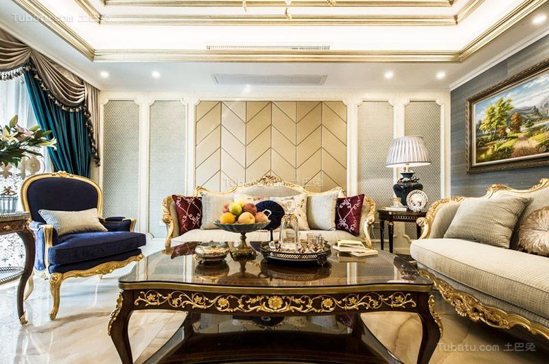 欧式奢华三居室设计图片