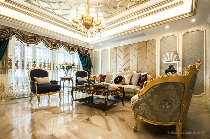欧式奢华客厅设计图片
