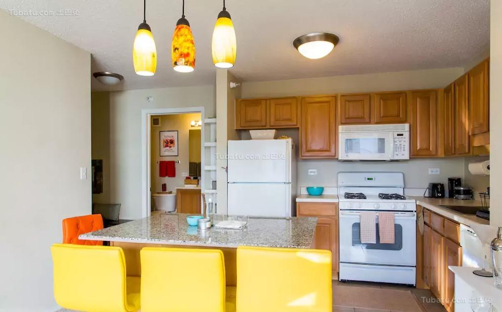 黄色彩美北欧风厨房图片大全