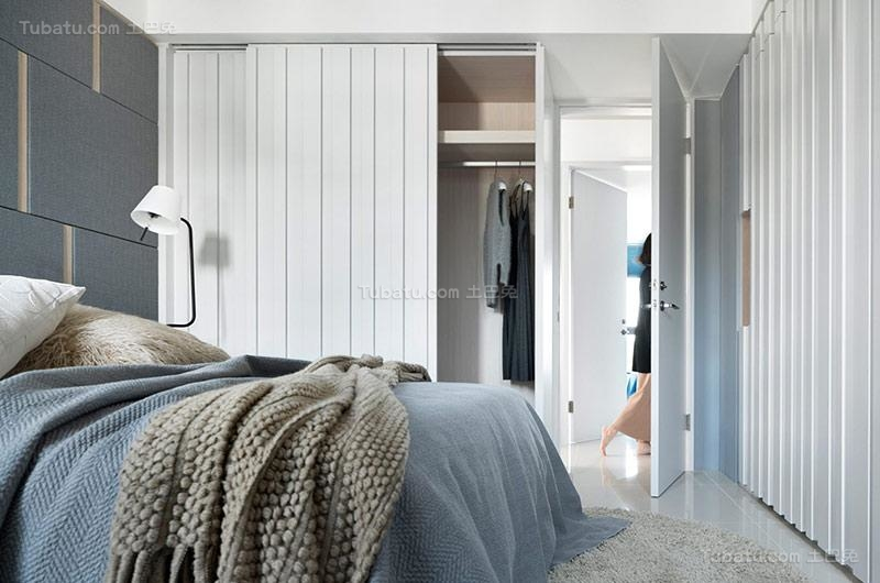 清新北欧风格衣柜设计图片