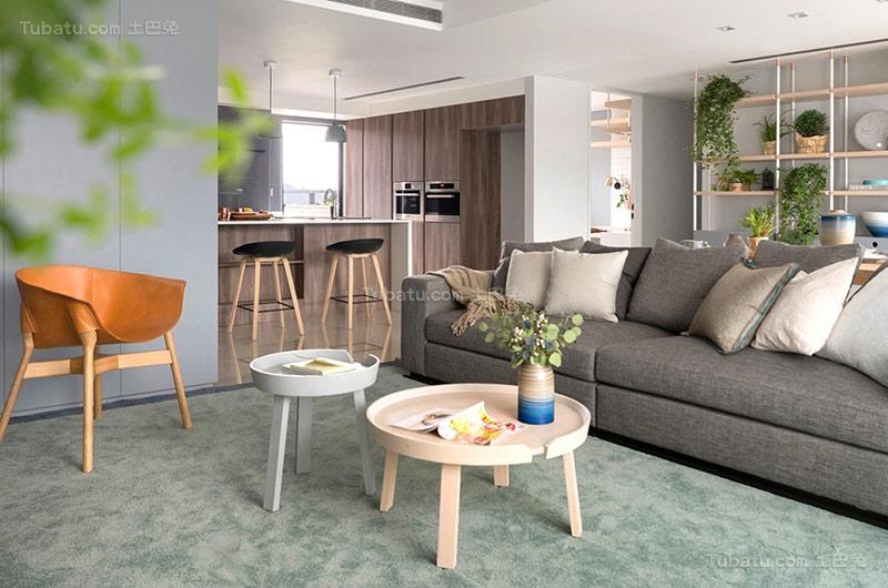 清新北欧风格客厅设计图片