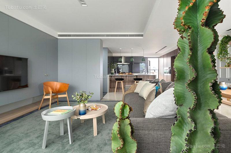 清新北欧风格二居室设计图片