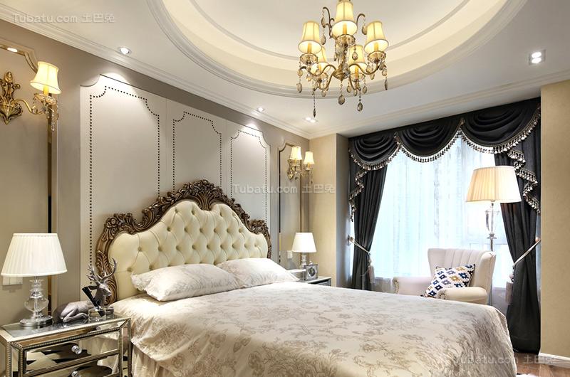 温馨简欧风卧室设计图片