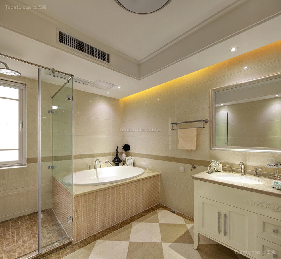 混搭美观卫生间设计效果图