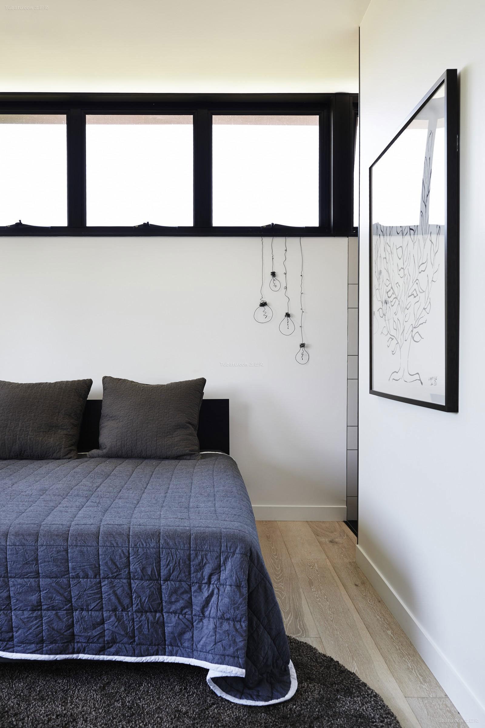 北欧舒适卧室效果图