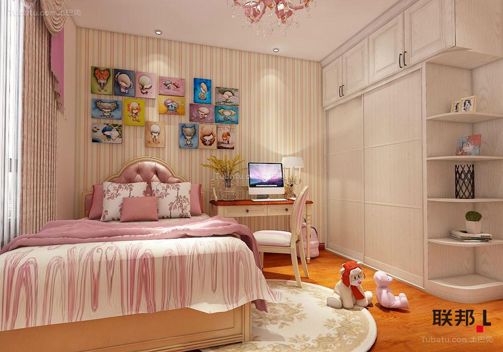 现代欧式孩子房效果图