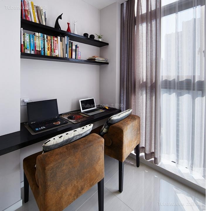 现代时尚公寓书房