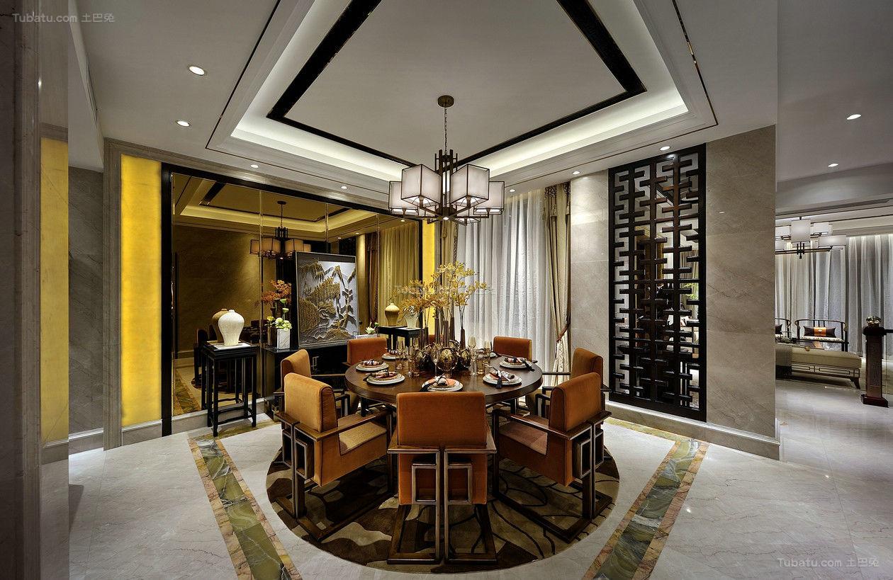 新中式华丽风格复式装修