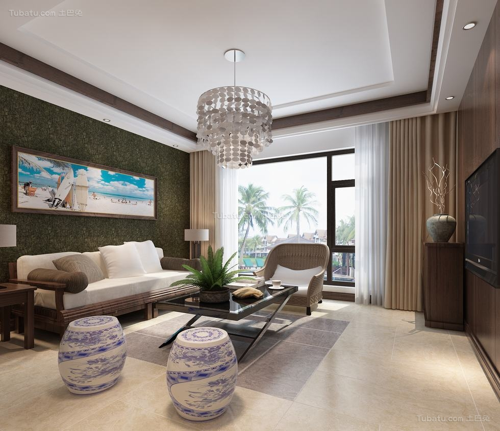 东南亚风格别墅装修效果