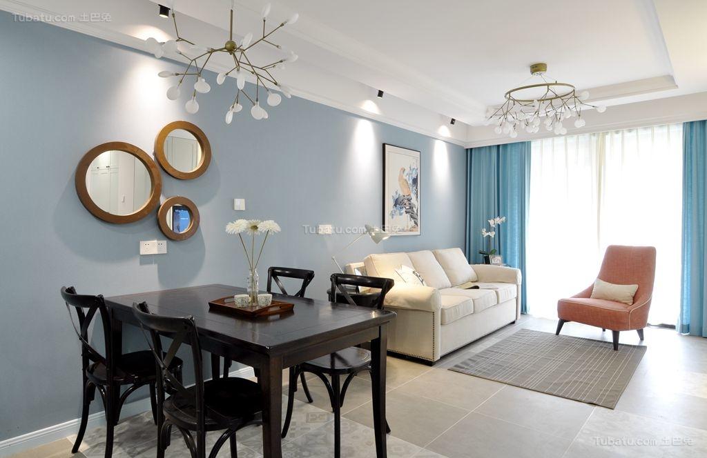 纯净美式二居装修风格