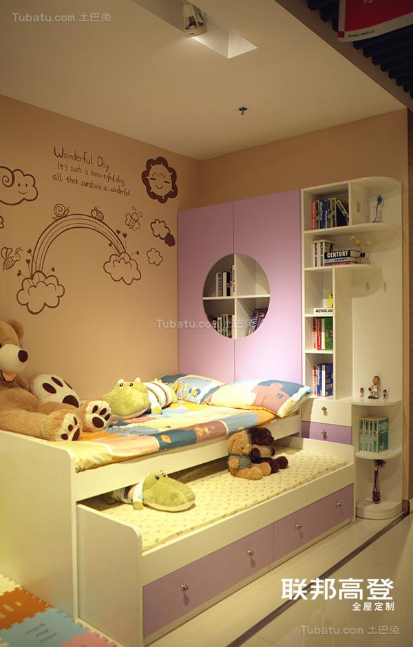 子母床搭配书柜收纳