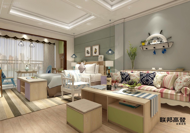 马卡龙灵动演绎单身公寓