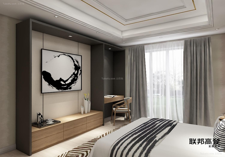 新中式客卧收纳矮柜