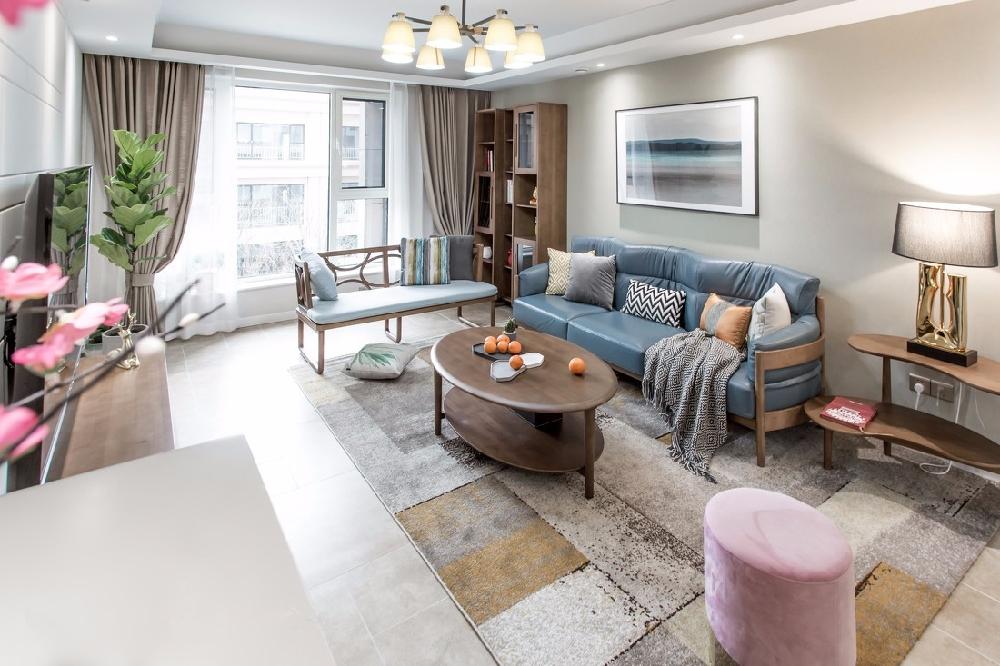 188㎡的现代风格二居室,自然舒适的家2078933