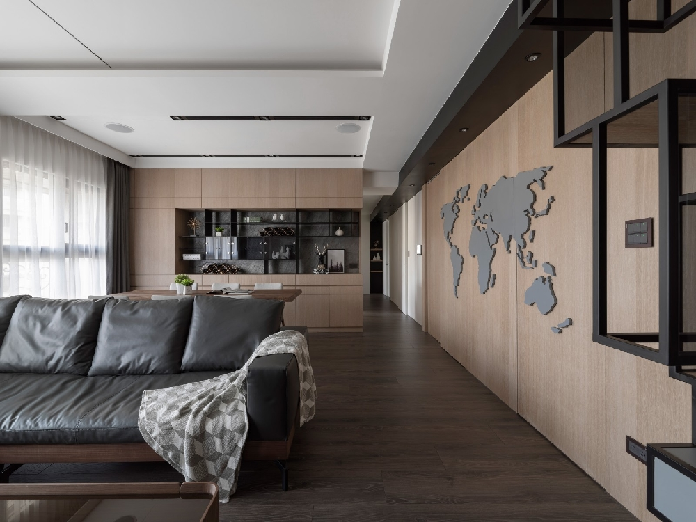 現代簡約風格三居室,童話國度的一個角落3200108