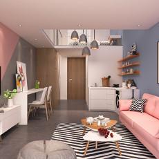 美式装饰10平米客厅效果图