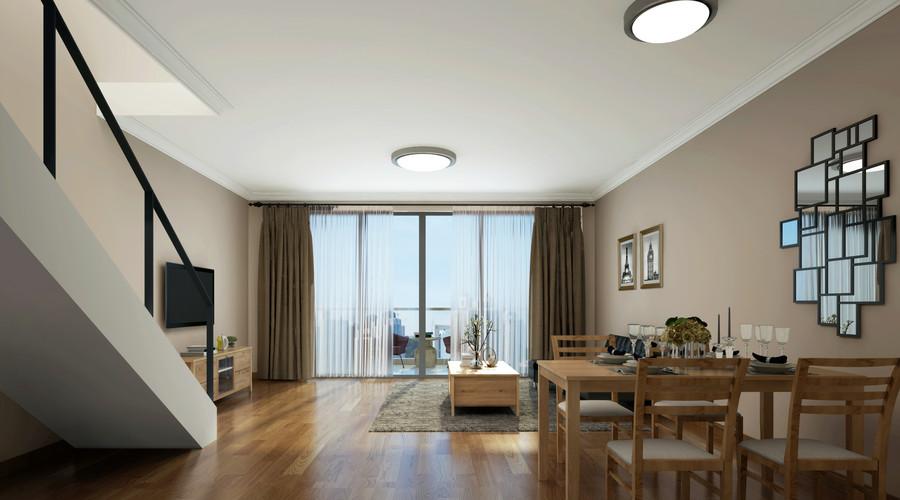 热门76平米欧式小户型客厅装修实景图片欣赏
