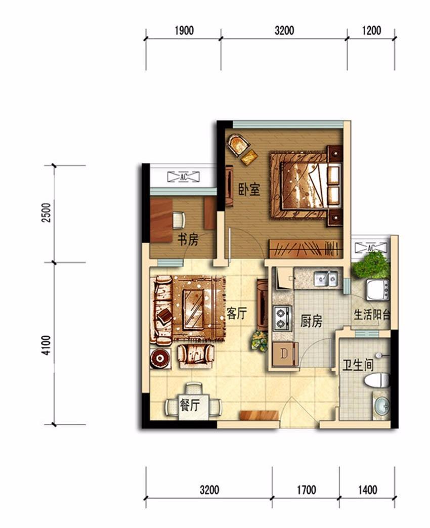 枫叶流丹  宜家风单身公寓610616
