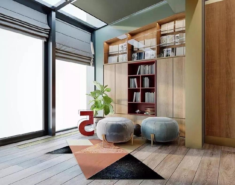 现代简约风格个性时尚精致住宅10267145