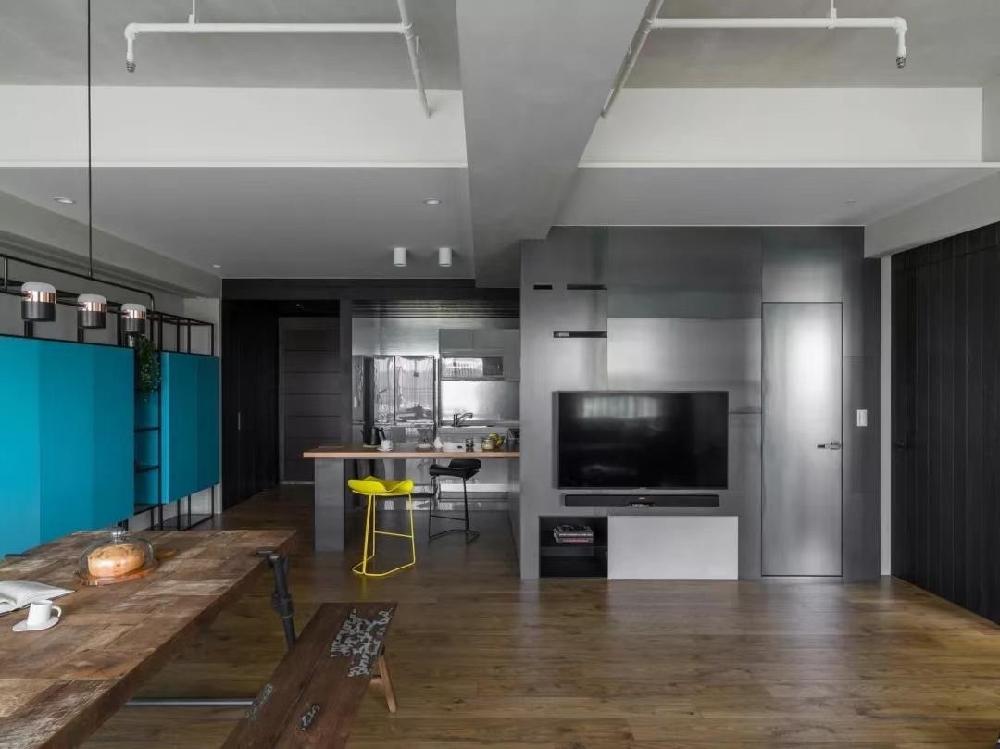 现代简约工业混搭风格时尚个性住宅10291982