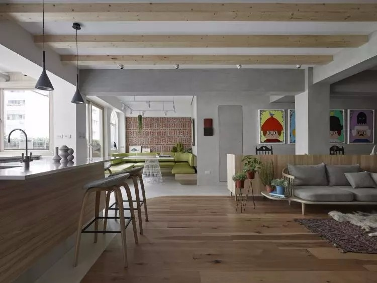 三居室,木地板上墙效果好赞10596061