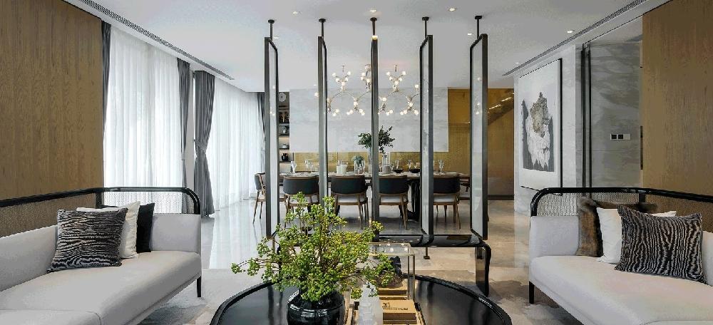 150m2中式复式,客厅简直惊艳一个家10610385