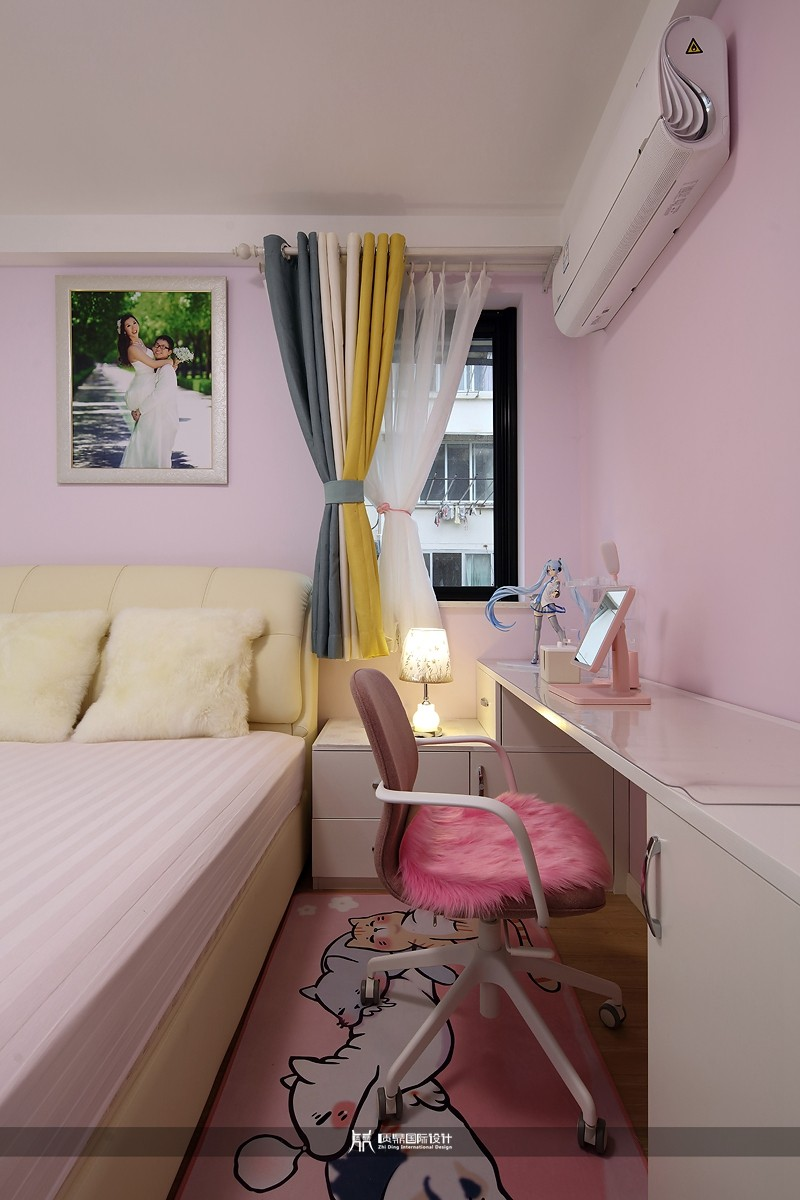 粉色女孩房,打造甜美公主房10677878